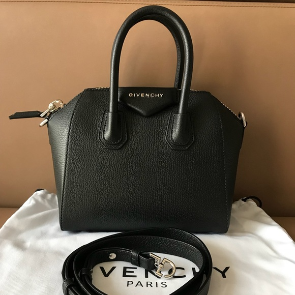 93440beb5ee Givenchy Bags | Mini Antigona Black Leather Bag Nwt | Poshmark
